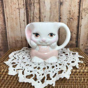 Easter Bunny Mug Pink and White